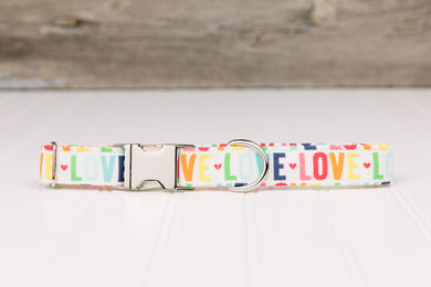 LOVE Pride Dog Collar