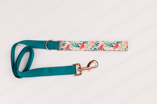 Rose Gold Tropics Customizable Matching Dog Leash