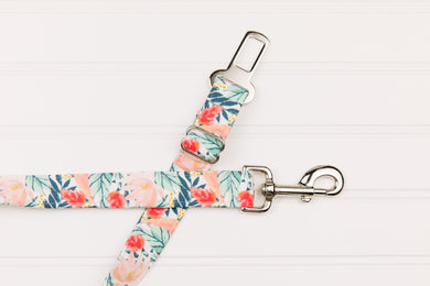 Rose Gold Tropical Dog Seatbelt