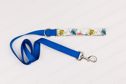 Colourful Bees Customizable Matching Dog Leash