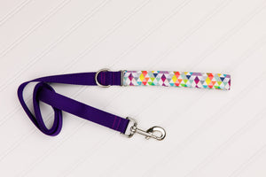 Colourful Triangles Customizable Matching Dog Leash