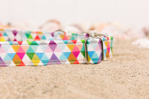 Colourful Triangles Geometric Dog Collar