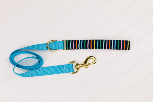 Navy Striped Customizable Matching Dog Leash