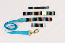 Load image into Gallery viewer, Navy Striped Customizable Matching Dog Leash