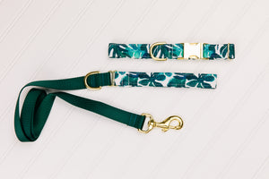 Tropical Palm Leaves Customizable Matching Dog Leash
