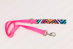 Water Resistant Graffiti Neon Geometric Dog Collar