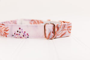 White Poppies Water Resistant Dog Collar