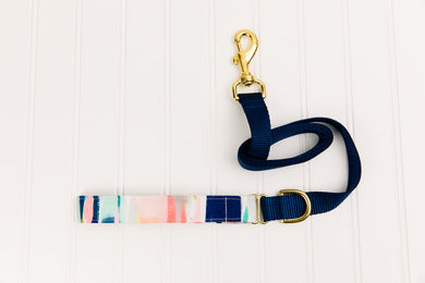 Abstract Stripes Matching Dog Leash