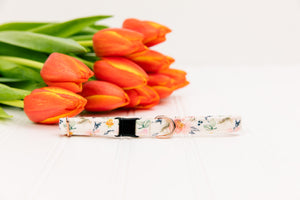 Ditsy Watercolour Floral Breakaway Cat Collar
