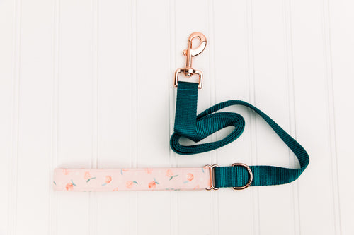 Tiny Pink Peaches Matching Dog Leash