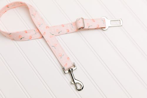 Tiny Pink Peaches Dog Seatbelt