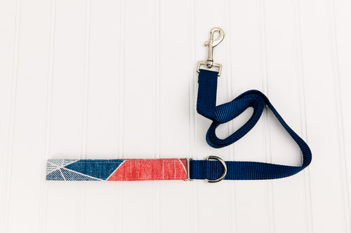 Patchwork Denim Matching Dog Leash