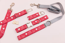 Load image into Gallery viewer, Little Love Red Valentine's Matching Dog Leash
