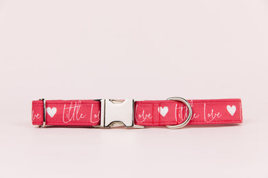Little Love Red Valentine's Dog Collar