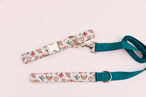 Retro Tattoo Valentine's Dog Collar