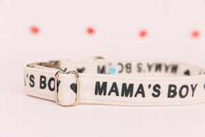 Mama's Boy Valentine's Dog Collar