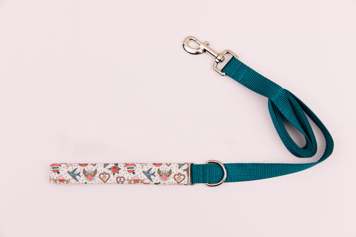 Retro Tattoo Valentine's Matching Dog Leash