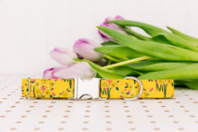 Load image into Gallery viewer, Mustard Yellow Floral Bundles Dog Collar
