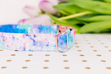 Load image into Gallery viewer, Water Resistant Tie-Dye Splatter Dog Collar