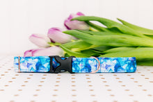 Load image into Gallery viewer, Water Resistant Galaxy Geometric Blue Dog Collar