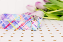 Load image into Gallery viewer, Pastel Spring Plaid Dog Collar