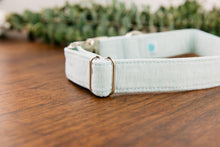 Load image into Gallery viewer, Seafoam Green Special Occasion Linen & Cotton Blend Collar