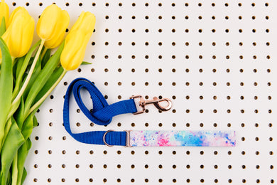 Water Resistant Tie-Dye Splatter Matching Dog Leash