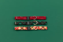 Load image into Gallery viewer, Hunter Green Tartan Breakaway Cat Collar