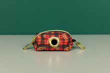 Load image into Gallery viewer, Gilded Floral Tartan Waste Bag Holder