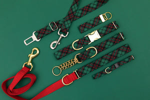 Hunter Green Tartan Breakaway Cat Collar
