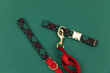 Load image into Gallery viewer, Hunter Green Tartan Dog Collar