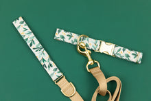 Load image into Gallery viewer, Gold Winter Berry Sprigs Matching Dog Leash
