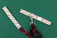 Load image into Gallery viewer, Red, Green and Gold Plaid Matching Dog Leash