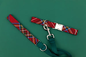 Cozy Winter Plaid Dog Collar