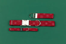 Load image into Gallery viewer, Buffalo Plaid Snowflake Breakaway Cat Collar