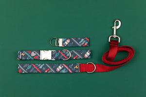 Nordic Christmas Sweater Matching Dog Leash
