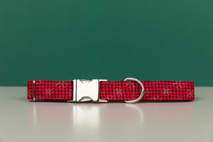 Buffalo Plaid Snowflake Dog Collar