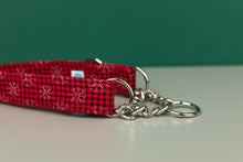 Load image into Gallery viewer, Buffalo Plaid Snowflake Dog Collar
