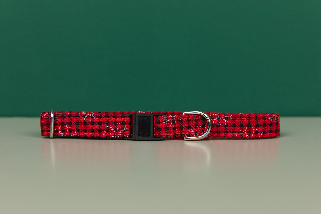Buffalo Plaid Snowflake Breakaway Cat Collar