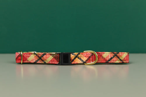 Gold Gilded Plaid Breakaway Cat Collar