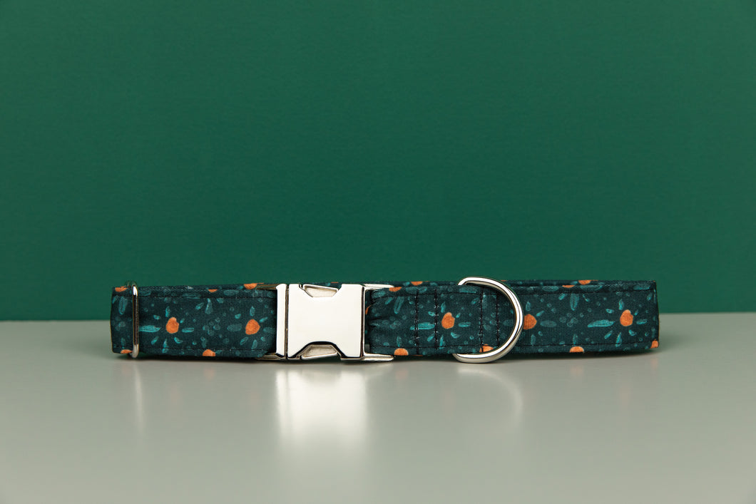 Orange Diamond Water Resistant Dog Collar