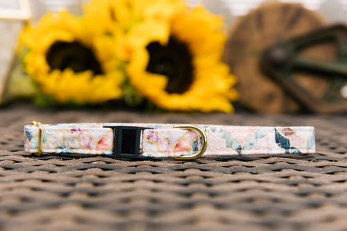 Marble Moroccan Tile Breakaway Cat Collar