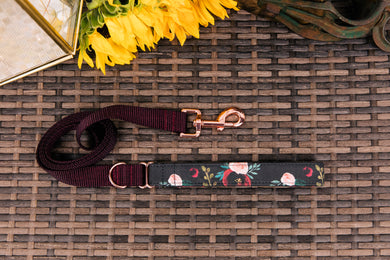 Monster Blooms Matching Dog Leash