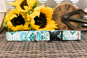 Water Resistant Jungle Aztec Dog Collar