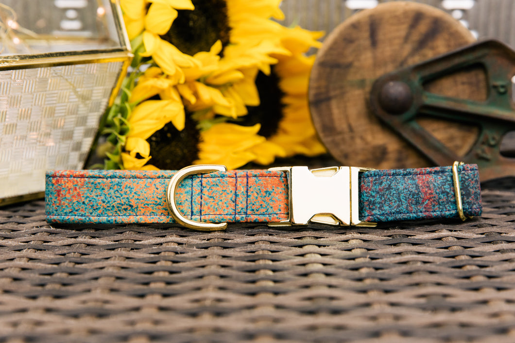 Rusted Sapphire Graphic Dog Collar