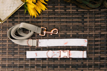 Load image into Gallery viewer, Water Resistant Rose Gold Marble Dog Collar
