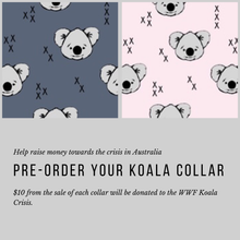 Load image into Gallery viewer, Koala Dog Collar to raise funds for WWF Koala Crisis