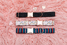 Load image into Gallery viewer, Valentine's Tiny Hearts Rose Gold Customizable Dog Collar