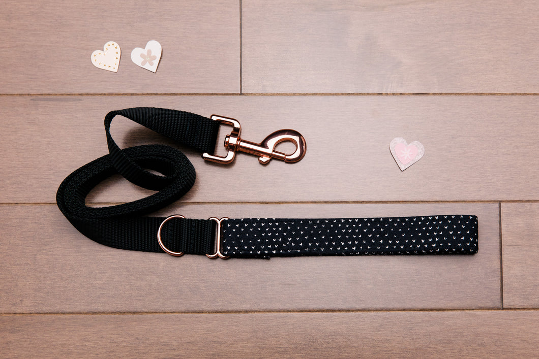 Valentine's Tiny Hearts Rose Gold Leash