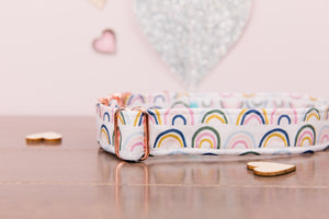 Valentine's Rainbow and Rose Gold Customizable Dog Collar